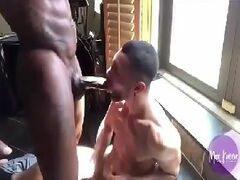 Jogos de sexo gay com mulato dotadão metendo o pau no primo