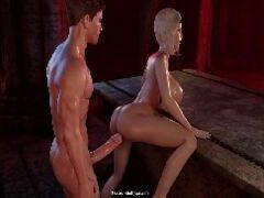 3D Hentai Vampire - Chupando pescoço e comendo cu da inocente
