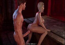 3D Hentai Vampire – Chupando pescoço e comendo cu da inocente