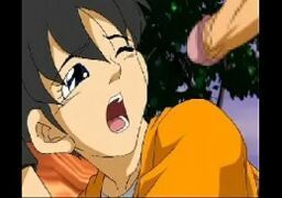 Dragon Ball Z Hentai – Videl fode gostoso com seu colega de classe