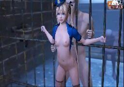 Filme de sexo 3D policial gostosa dando a buceta