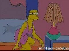 Lesbicas Hentai - Marge Simpson fode com sua amiga tesuda