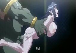Short Hentai sendo enrabada pelo monstro dotado